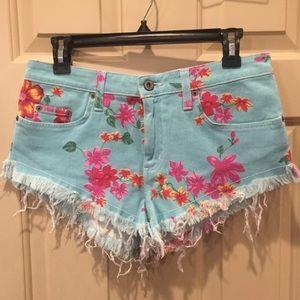 Blue Floral Shorts LF